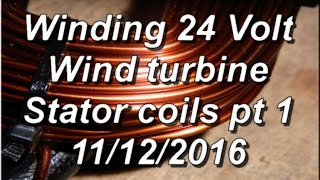 24 volt Coil winding for 12 coil stator pt 1 of 2 11/12/2016