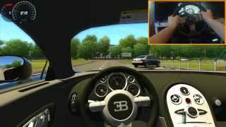 Repeat youtube video Bugatti Veyron 421 Km/h Epic Flying Crash City Car Driving