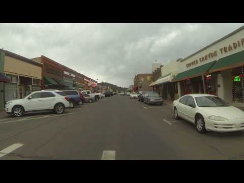U.S. Route 66 Highway in and around Williams, Arizona, Rear View, 6 August 2015, GP116910