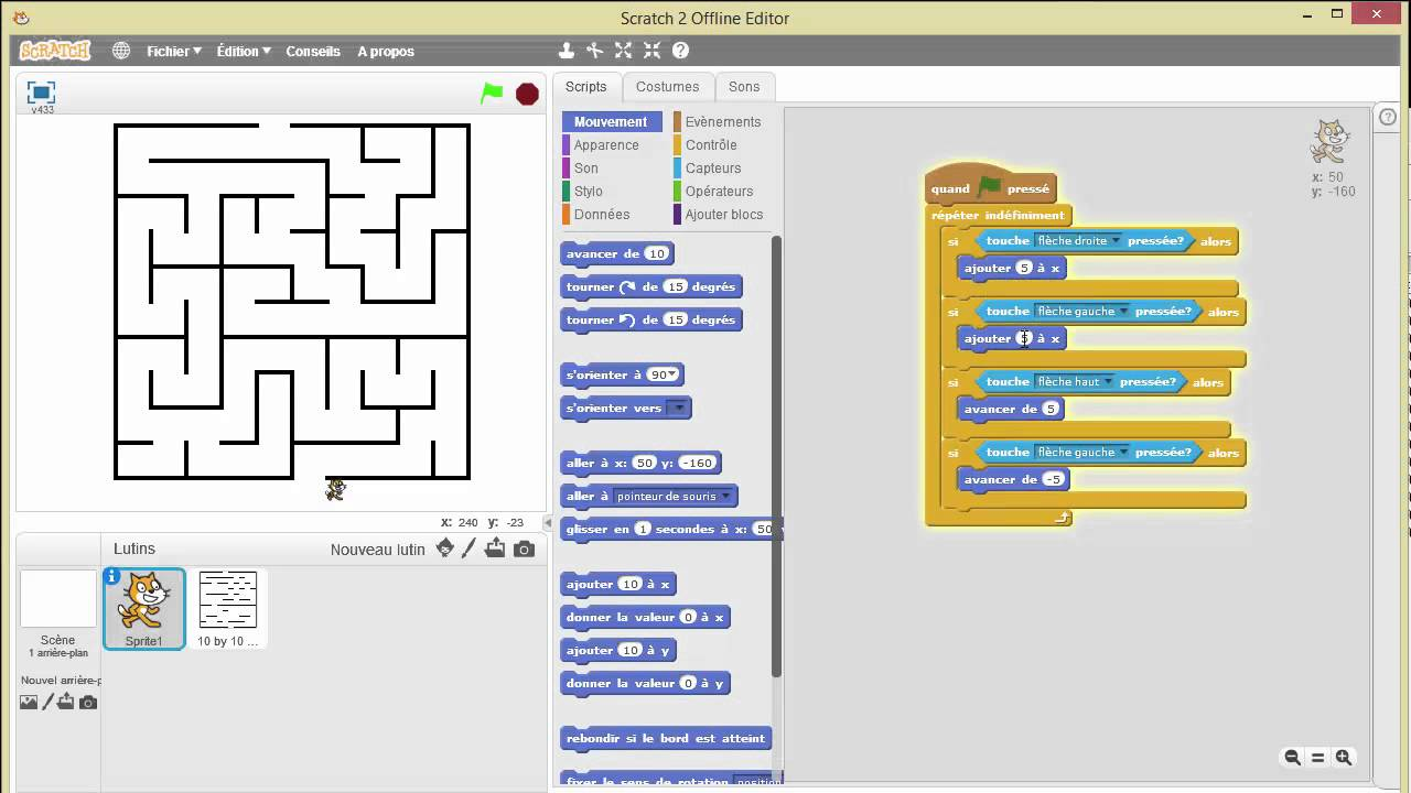Jeux Scratch Tutorial Scratch : Jeu De Labyrinthe (scratch Maze) - Youtube