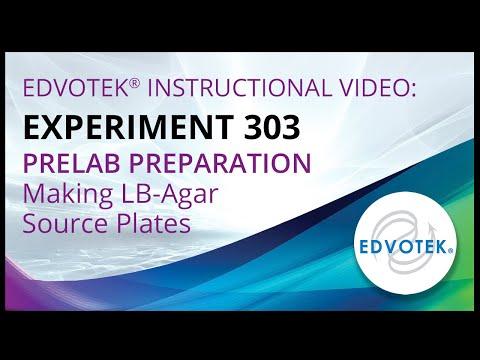 Edvotek Kit #303 - Pre-lab Preparations - Making LB-Agar Source Plates