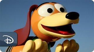 Imagineers Ready Slinky Dog Dash Ride Vehicle | Disney's Hollywood Studios