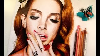 Hair Speed Drawing - Lana Del Rey