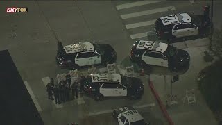Protesters Clash With LAPD During Breonna Taylor Protest In Hollywood