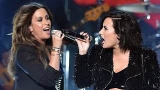 "Demi Lovato & Alanis Morissette ""You Oughta Know"" Performance at 2015 AMAs"