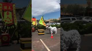 2019 Traditional  Chinese Lion Dance Association at Young's Fishmarket Kapolei Hawaii Grand Opening