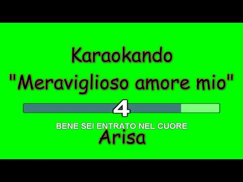 Karaoke Italiano - Meraviglioso amore mio - Arisa  Testo