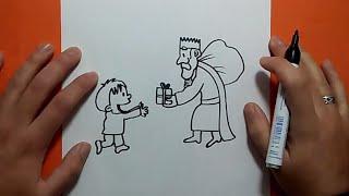 Como dibujar un rey mago paso a paso   How to draw a magician king