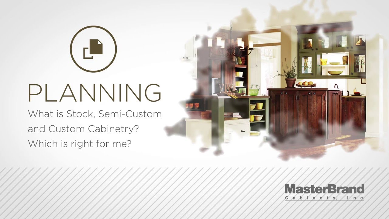 Learn About Different Types Of Cabinets: Stock, Semi Custom And Custom. MasterBrand  Cabinets ...