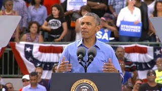 Full Video: President Obama rallies for Clinton in Florida
