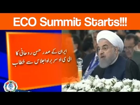 ECO Summit - Iranian, Turkish Presidents address