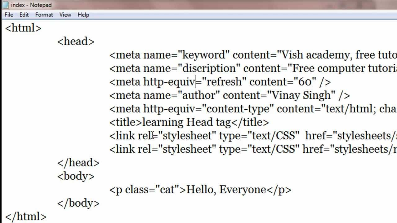 META TAGS IN HTML DOWNLOAD