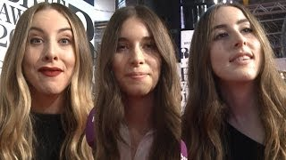 Haim interview at the BRIT Awards 2014