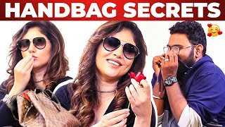 Actress Sherin Handbag Secrets Revealed by Vj Ashiq | What's Inside the Handbag?