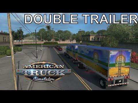 DOUBLE TRAILERS 😱 American Truck Simulator   iVarunKumar Hindi Gaming