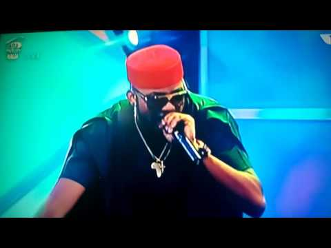Big brother naija -Banky w performing live