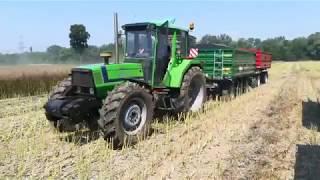 Żniwa Rzepakowe 2018 New Holand CX5.80 Deutz Fahr Agrosun Case Puma Ursus Zasław Autosan