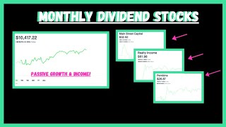 Monthly Dividend Paying Stocks | My Top Picks | Monthly Passive Income!