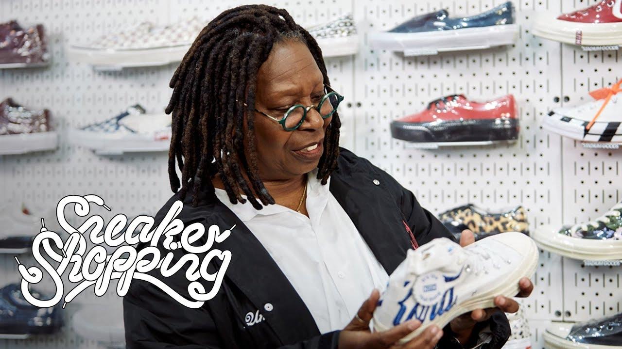 cf43e0bbe3c7b Whoopi Goldberg Goes Sneaker Shopping With Complex - YouTube