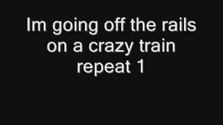 Ozzy osbourne  CrazyTrain Lyrics