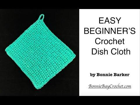 Easy Beginners Crochet Dish Cloth Youtube