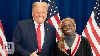 """After lil wayne showed his support for donald trump's re-election, cheryl hickey, graeme o'neil and guest co-host kirk diamond react during """"et canada live""""...."""