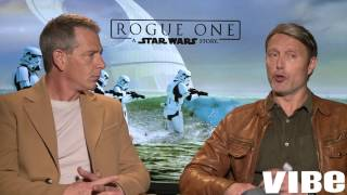 Rouge One's Ben Mendelsohn & Mads Mikkelen Give Their Characters Advice