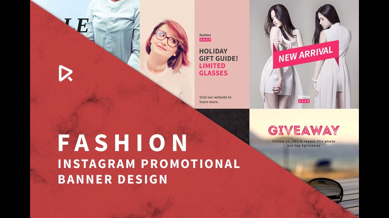 How to Design Instagram Fashion Banner - YouTube