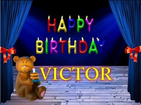 Imagenes de feliz cumpleanos con el nombre de victor