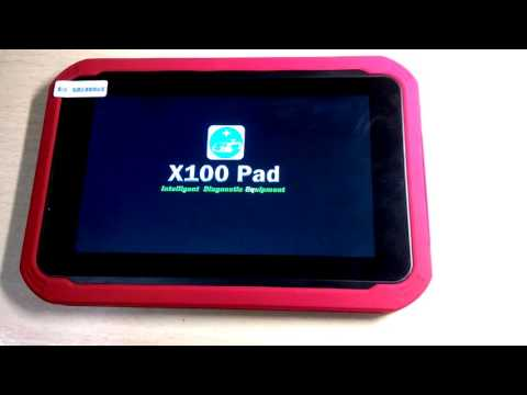 About the tablet car key programmer X100 PAD XTool