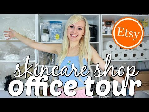 ETSY SHOP OFFICE TOUR for homemade cosmetics Ι TaraLee
