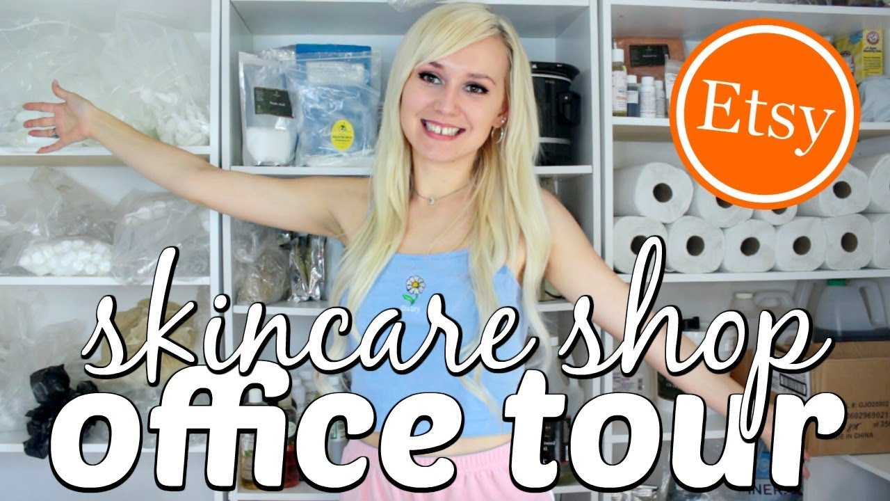 ETSY SHOP OFFICE TOUR for homemade cosmetics