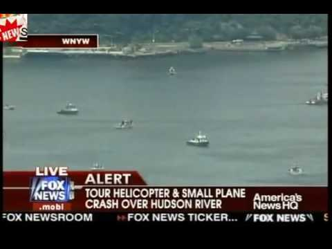 Tour Helicopter Small Plane Crash Over Hudson River