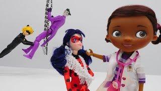 Doc McStuffins hat Sprechstunde - Lady Bug und Cat Noir bei der Spielzeugärztin