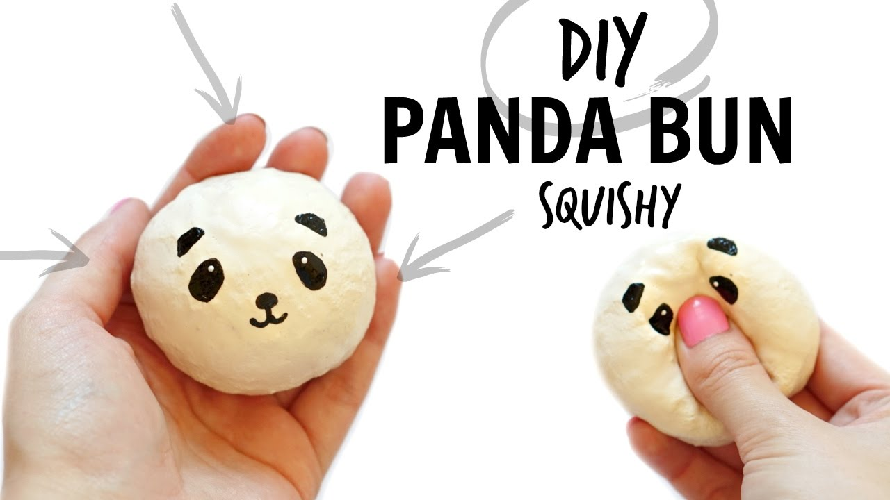 DIY PANDA BUN SQUISHY! - YouTube
