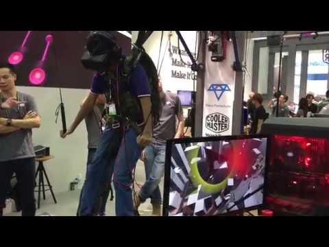 Para Parachute VR Demo at Cooler Master's Booth | Digit.in