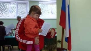 а,в чистом поле,система ГРАД-первые выборы Полины!