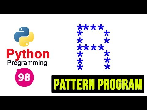 Python 3 Pattern Program -98- Printing Stars in  R Shape