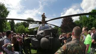US Army Apache landed in German Town