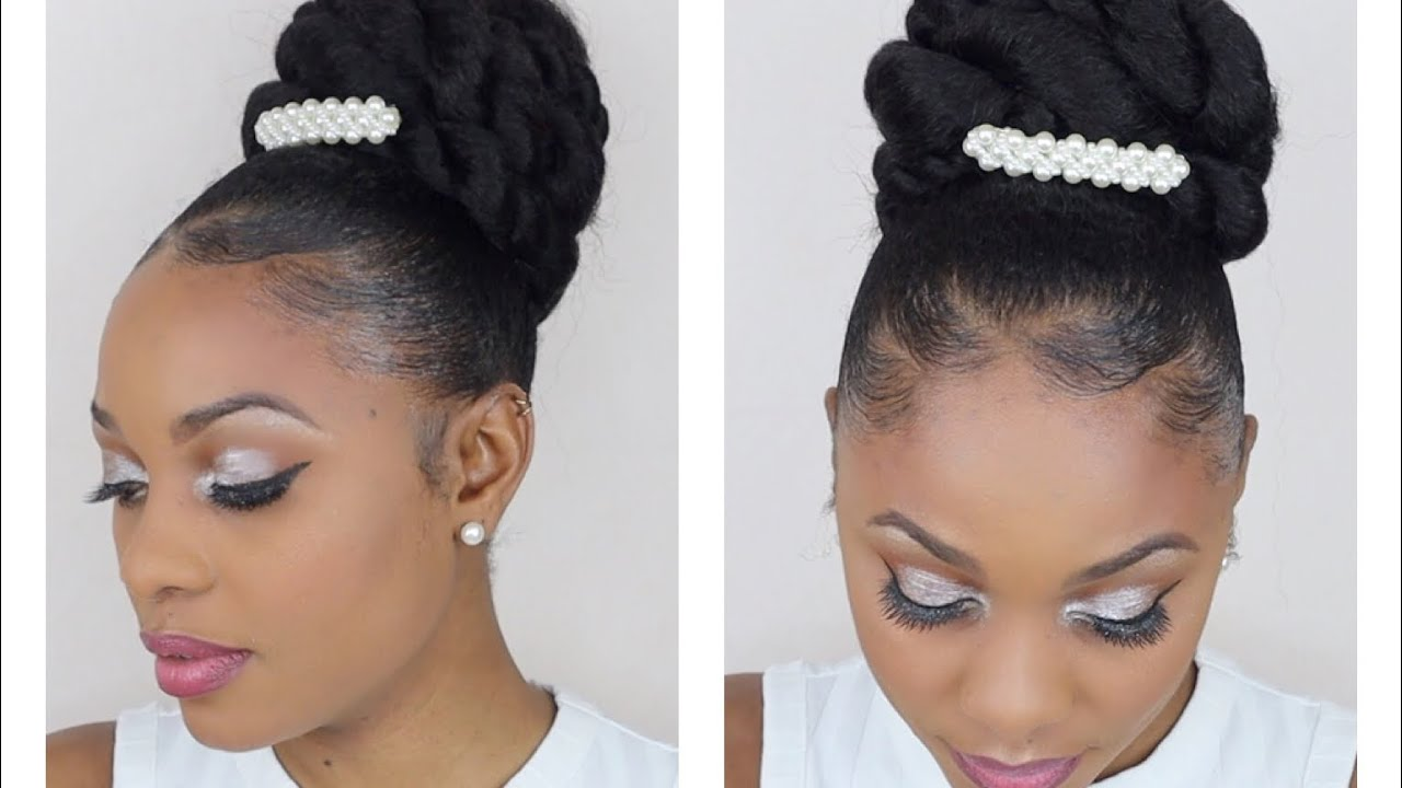 Easy Bridal Updo Wedding Hairstyles For Black Women 2020 Natural Hair Youtube