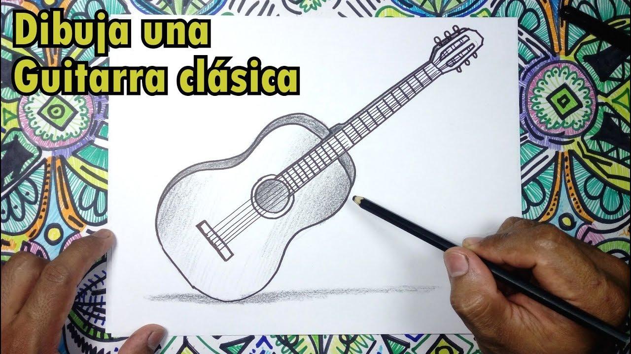 Aprende A Dibujar Una Guitarra Clasica