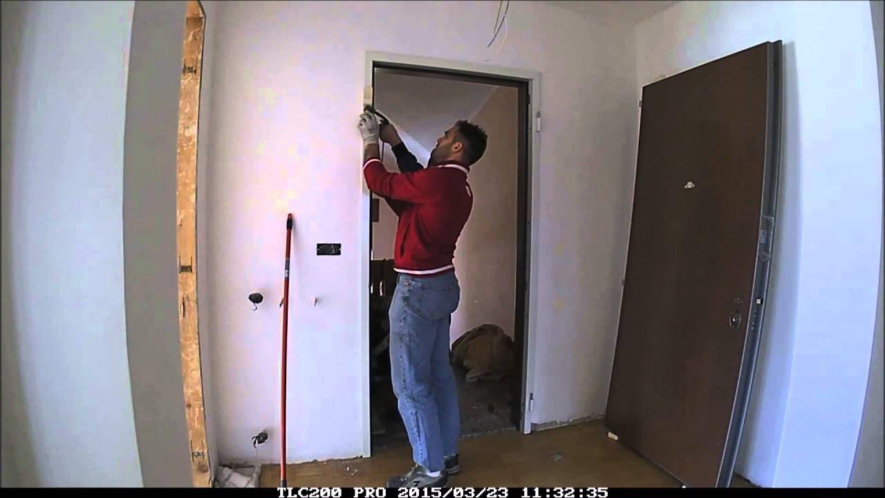 Arte del costruire posa porta blindata youtube - Montaggio controtelaio porta ...