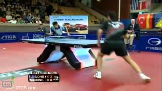 Panagiotis Gionis Vs. Hung Tzu-Hsiang: Swedish Open 2013 1/4 Final: Full Match