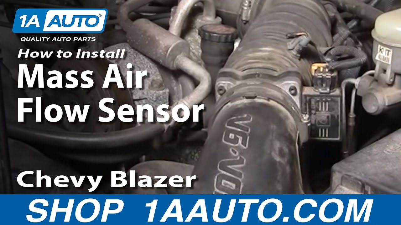 how to install replace mass air flow sensor meter s10 blazer pickup jimmy 4 3l 96 05 1aauto com youtube [ 1920 x 1080 Pixel ]