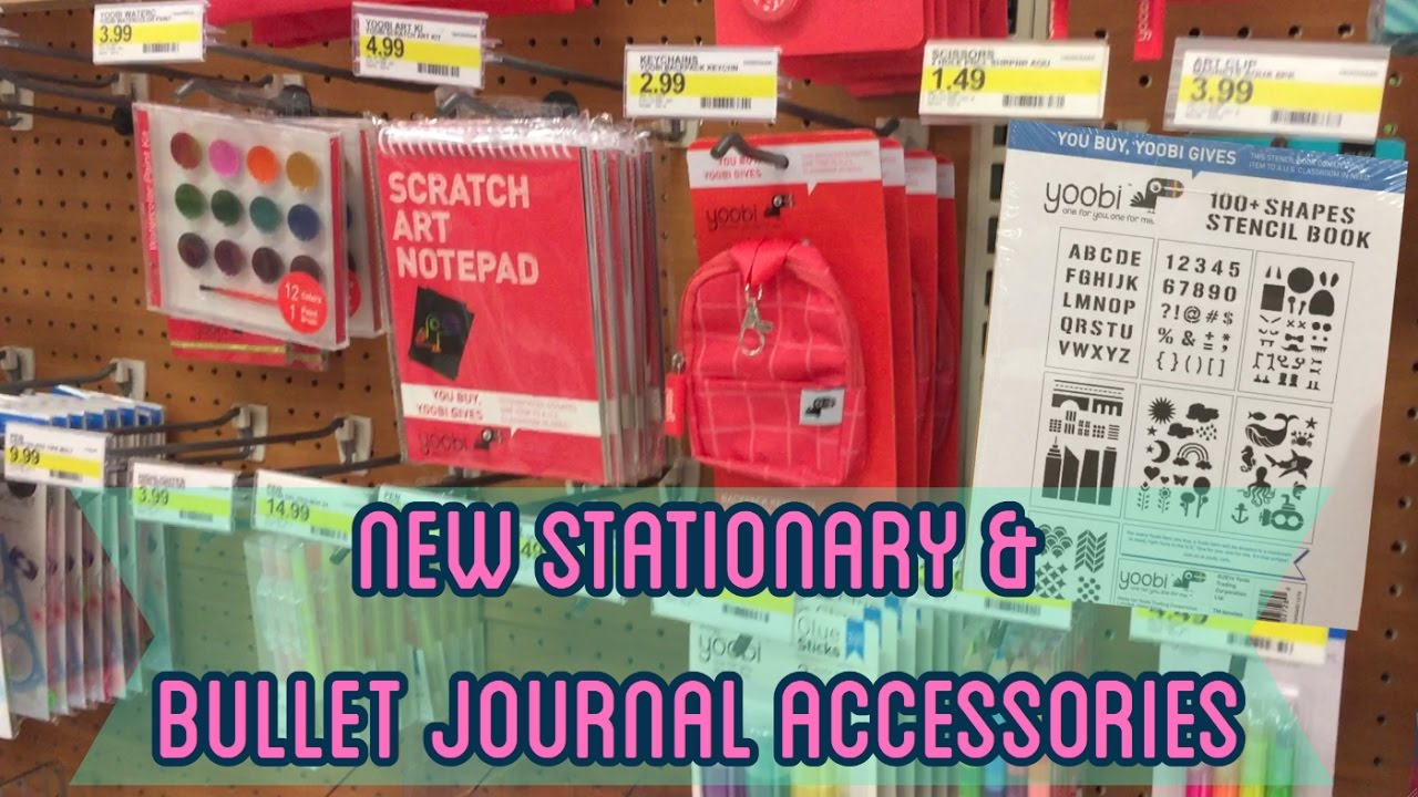 new bullet journal supplies stationary at target shop with me i 39 m a cool mom youtube. Black Bedroom Furniture Sets. Home Design Ideas