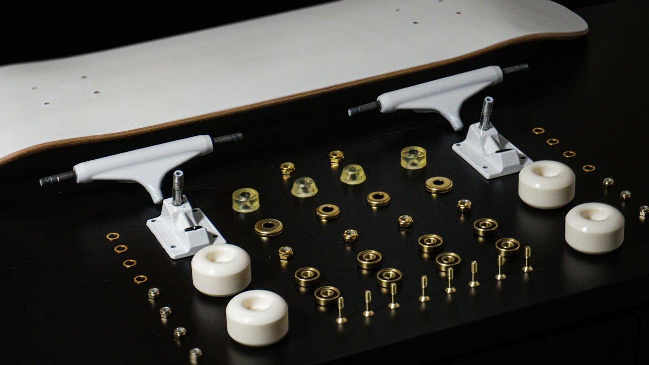 Dream Build Skateboard - Satisfying White and Gold setup 2021