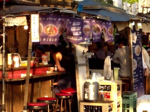 """Yatai"" Food Stalls in Fukuoka City, Japan"