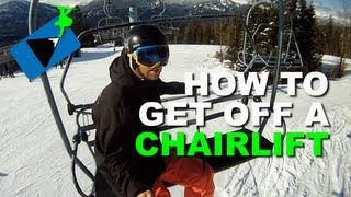 How to Get Off a Ski Lift Snowboarding  - How to Snowboard