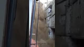 دمشق تغرق من جديد فيضان في جبل قاسيون