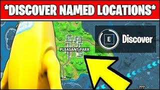 DISCOVER NAMED LOCATIONS - NEW WORLD MISSIONS (Fortnite Chapter 2 Season 1 CHALLENGES)